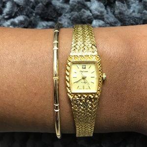 Oleg Cassini Gold Watch - Vintage